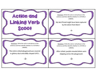 Action and Linking Verb Phrase SCOOT