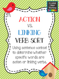 Action vs. Linking Verb Sort: Identifying Action Verbs and