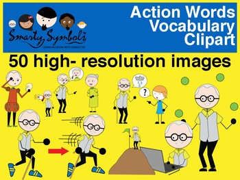Action words performed by Al - 45 png images