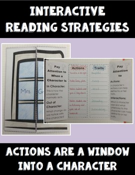 Actions Tell About A Character - Interactive Reading Strat