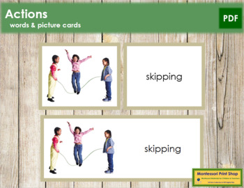 Actions: Words and Picture Cards