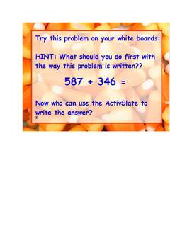 ActivInspire Addition/Subtraction Review 3rd grade