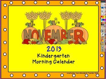 ActivInspire Calendar November 2013