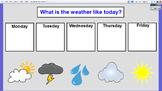 ActivInspire Weekly Weather Chart