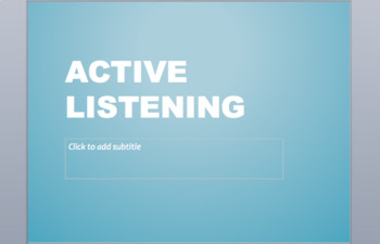 Active Listening Lesson, Activity, and Exit Ticket