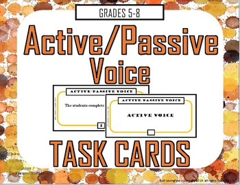 Active Passive Voice Task Cards