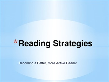 Active Readers Reading Strategies Presentation