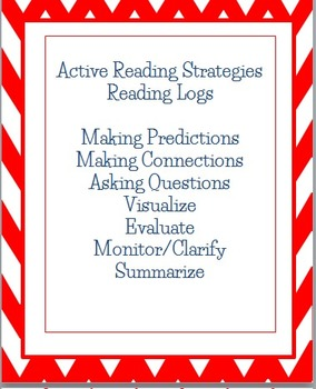 Active Reading Strategies Homework Reading Logs in English