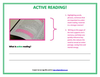 Reading Strategy: Active Reader