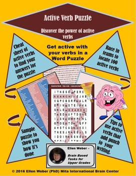 Active Verb Puzzle - Students Play their Way into Mastery