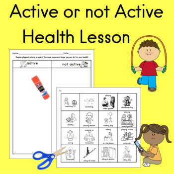 Active Vs. Not Active Health Lesson