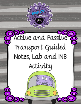 Diffusion, Osmosis, and Active Transport Guided Notes, Lab