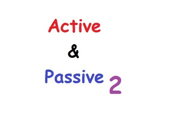 Active and Passive Voice Flip Chart 2