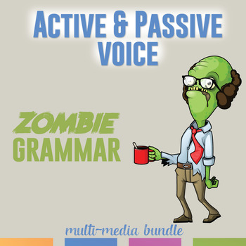 Active and Passive Voice Multimedia Bundle: Video, Task Ca