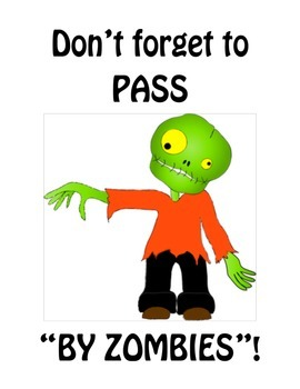 Active and Passive Voice - Zombie Poster