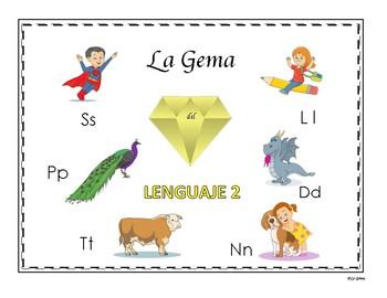 Lenguaje 2  Letras Ss, Pp, Ll, Tt, Dd, Nn