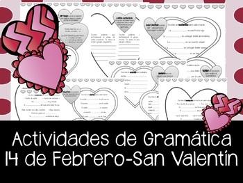 14 de Febrero. Dia de San Valentin - actividades de ortogr