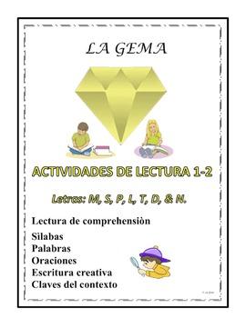 A3 (a) Actividades de la Lectura 1-2 Letras: M, S, P, L, T, D, N.