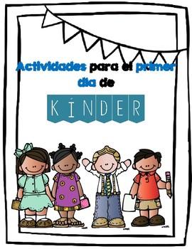 Actividades para el primer dia de kinder