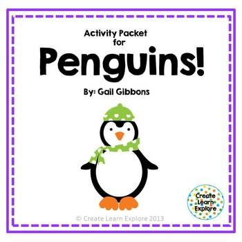 Activity Packet for Penguins by Gail Gibbons