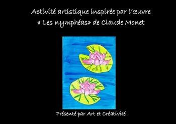 Activité artistique pour enfants : les Nénuphars du peintr