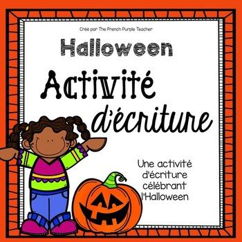 Activité d'écriture pour l'Halloween