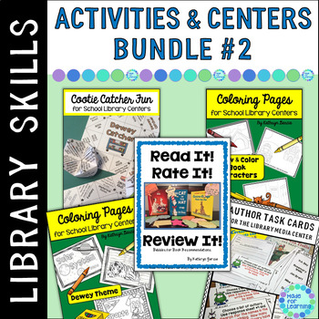 Activities & Centers BUNDLE #2 for the School Library Medi