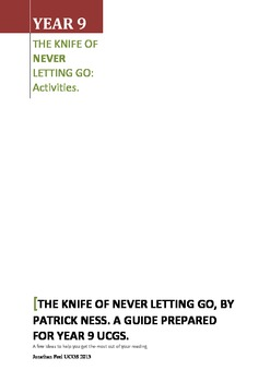 Activities Guide for The Knife of never letting go