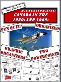 Canada During the 1950s and 1960s - A 5 page activities pa