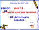 Activities and the seasons