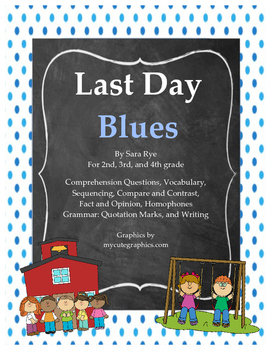 "Activity Pack for ""Last Day Blues"" by Julie Danneberg"
