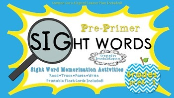 Activities for Sight Word Memorization Pre-Primer