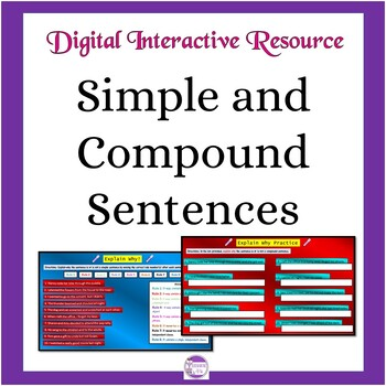 Google Slides Activities for Simple and Compound Sentences