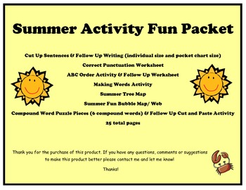 Activities for Summer Theme