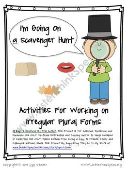 Activities for Working on Irregular Plurals