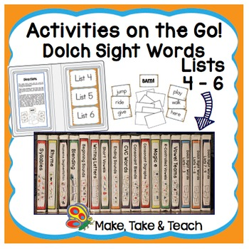 Dolch Sight Words Lists 4-6 - Activities on the Go!