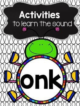 Activities to practice the sound {onk}