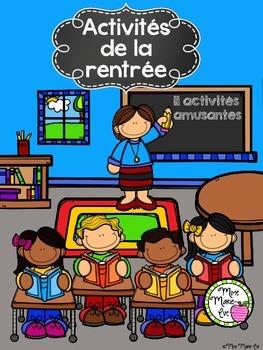 Activités de la rentrée - Back to School Activities