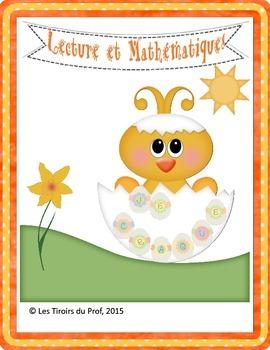 Activités français et mathématiques pour Pâques Easter wri