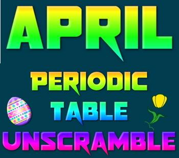 Activity: April Periodic Table unscramble