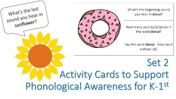 Activity Cards to Support Phonological Awareness for K/1st