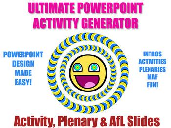 Activity Generator - Design Beautiful PowerPoints (Activit