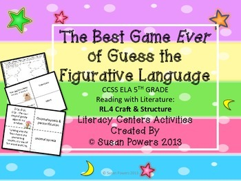 Activity Guess the Figurative Language Game Reading Comprehension