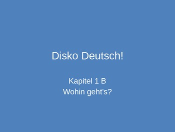 Activity Hour for after completion of Deutsch Aktuell 2 Ka