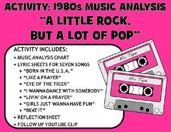 """Activity: Music Analysis - 1980s """"A Little Rock, But a Lot"""