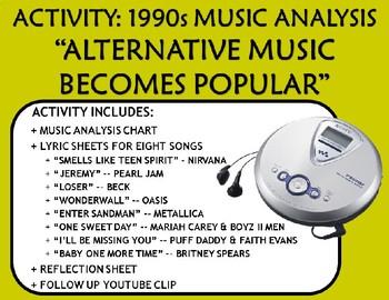 "Activity: Music Analysis - 1990s ""Alternative Music Become"