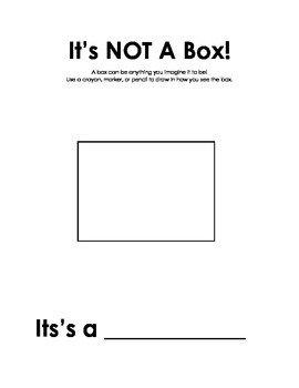 Activity Sheets for Not a Box and Not a Stick by Antoinett