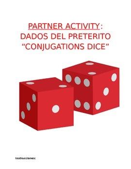Activity Sp1, Sp2, or Sp3 - Verb Conjugations Paper Dice f