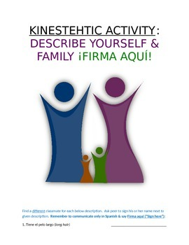 Activity Sp1 or Sp2 - Describe Yourself and Family: Firma