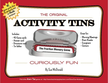 Activity Tins - Fraction Memory Game - A Game for Grades 2